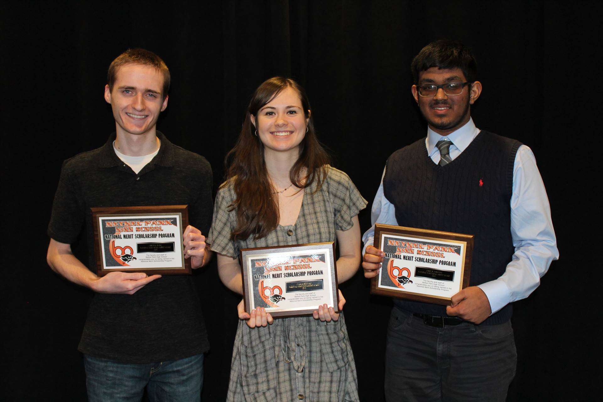 The three National Merit Commended Students