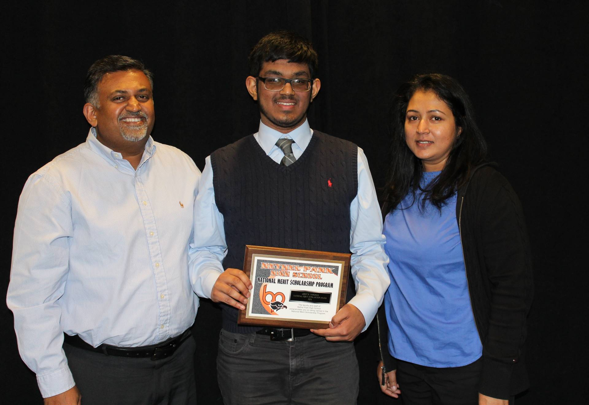 Jerry Varghese and his parents