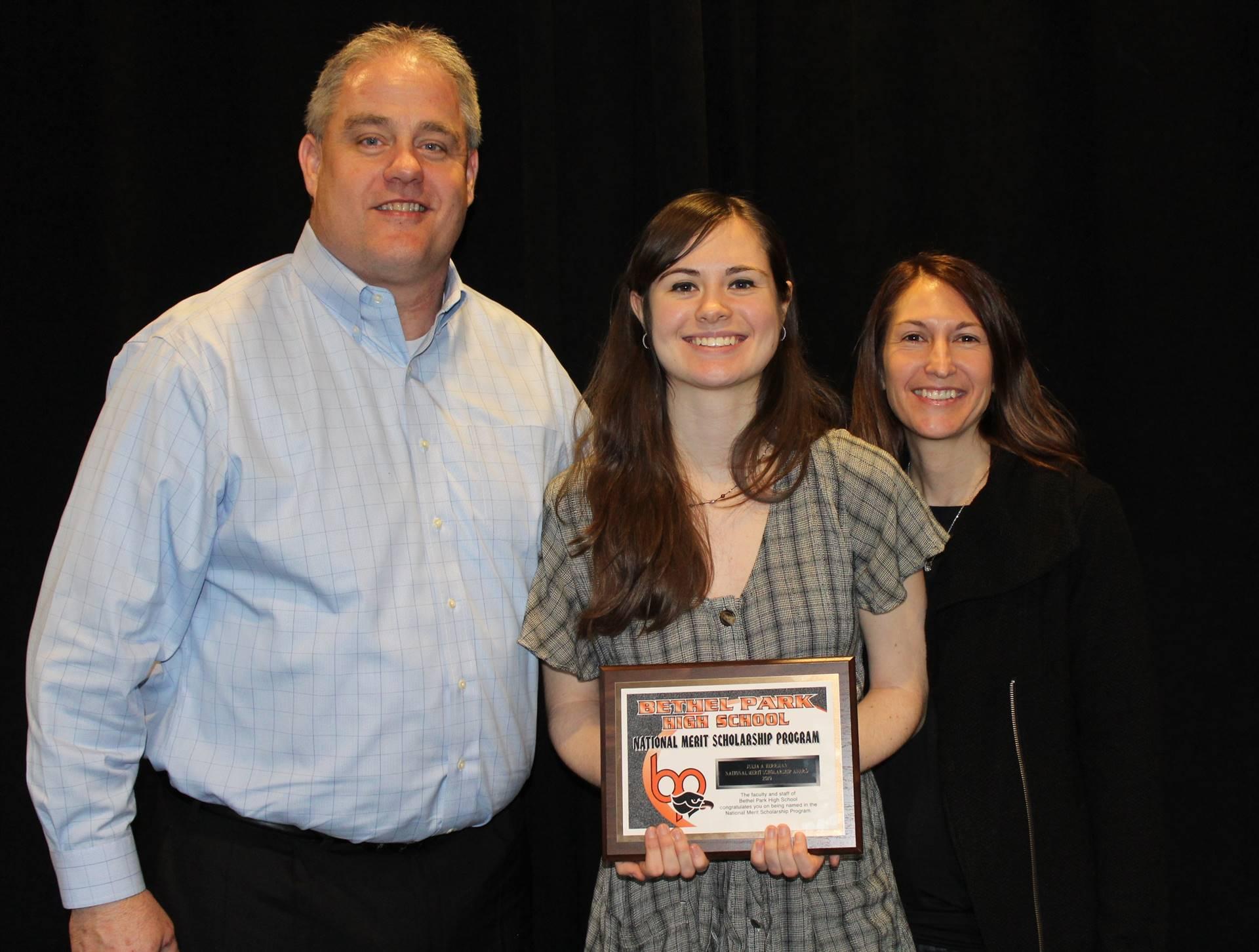 Julia Herrman and her parents