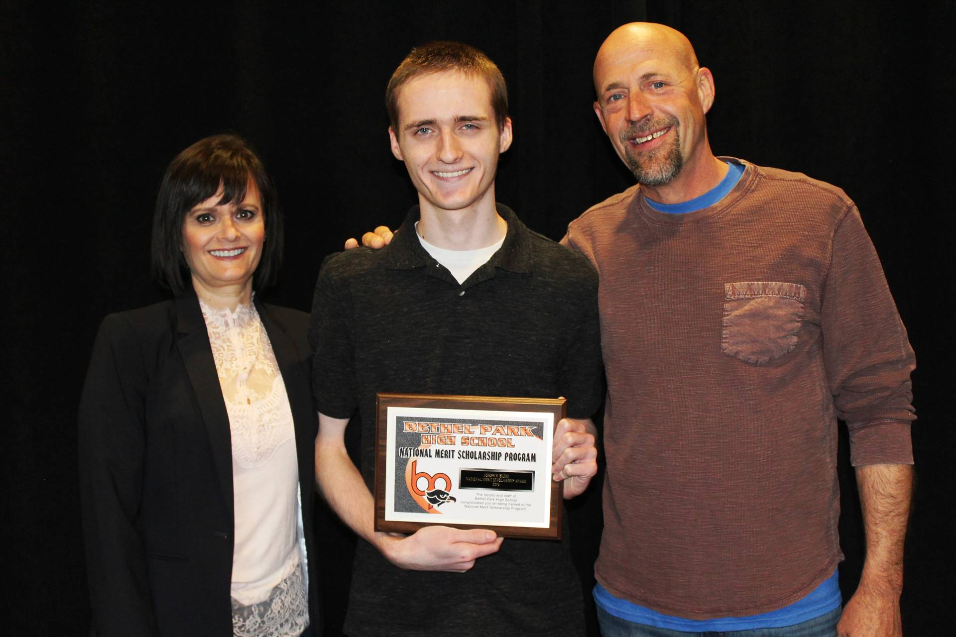 Joseph Bilski and his parents