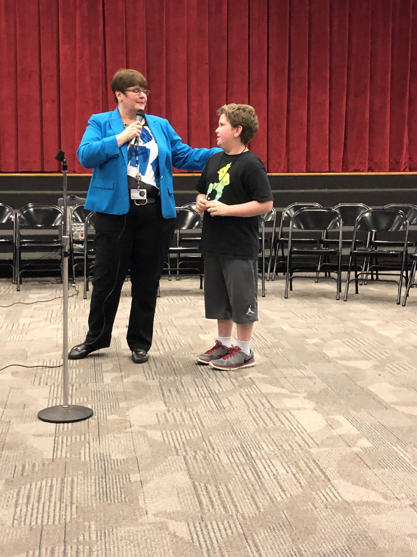 Ms. O'Rourke with the third place speller