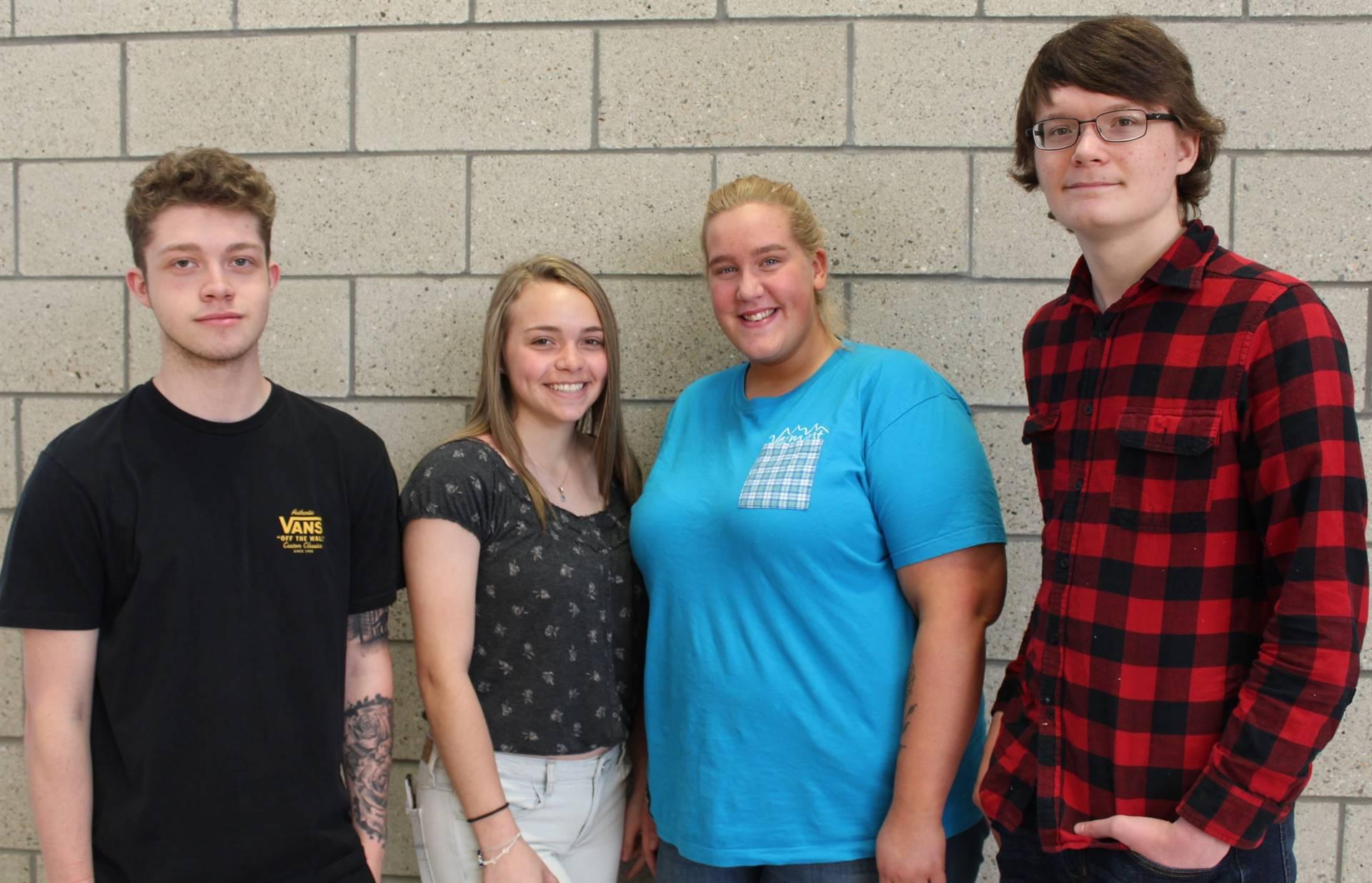 Four of the six Extra Effort Third Quarter Award Recipients