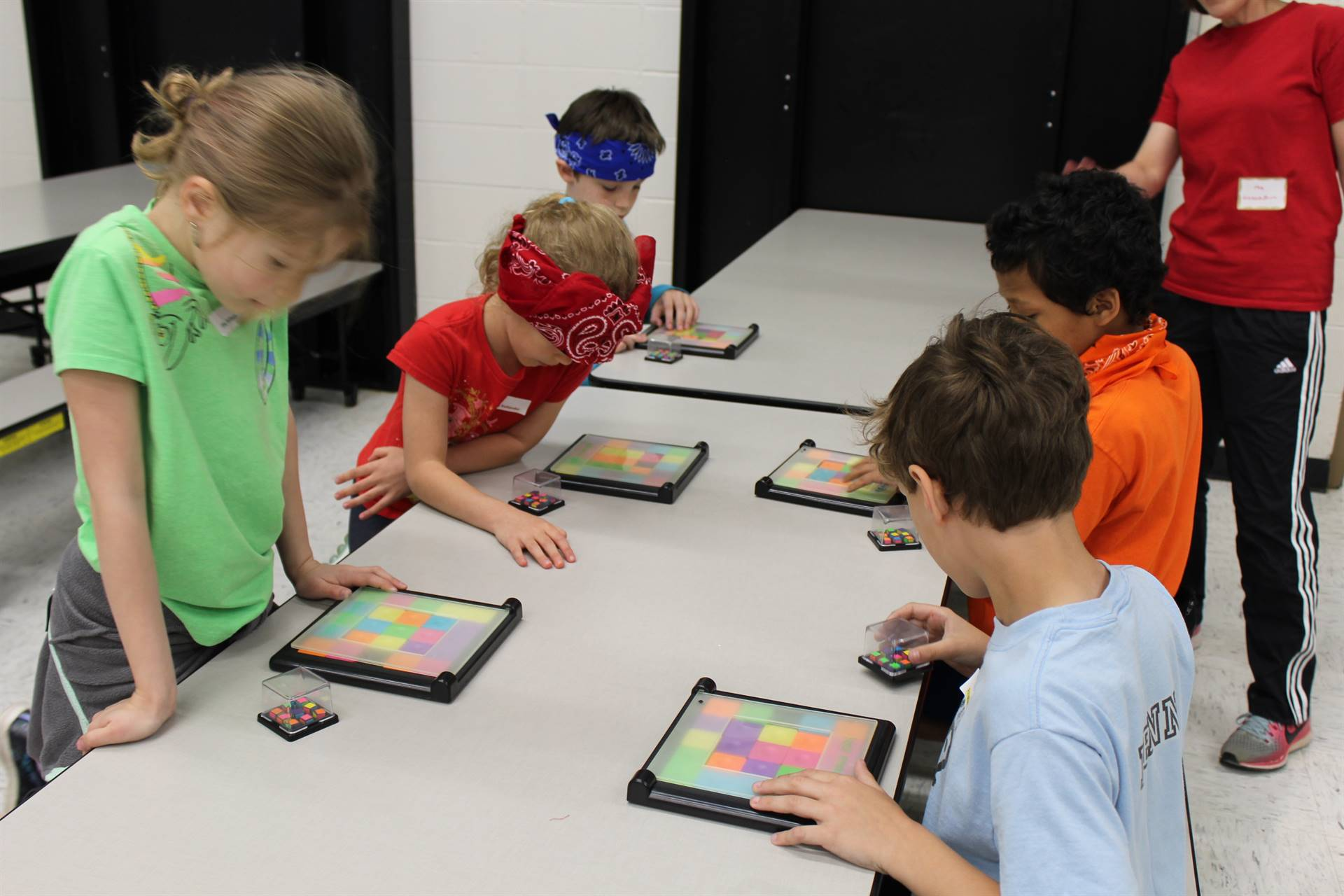 Students playing Q-Bitz