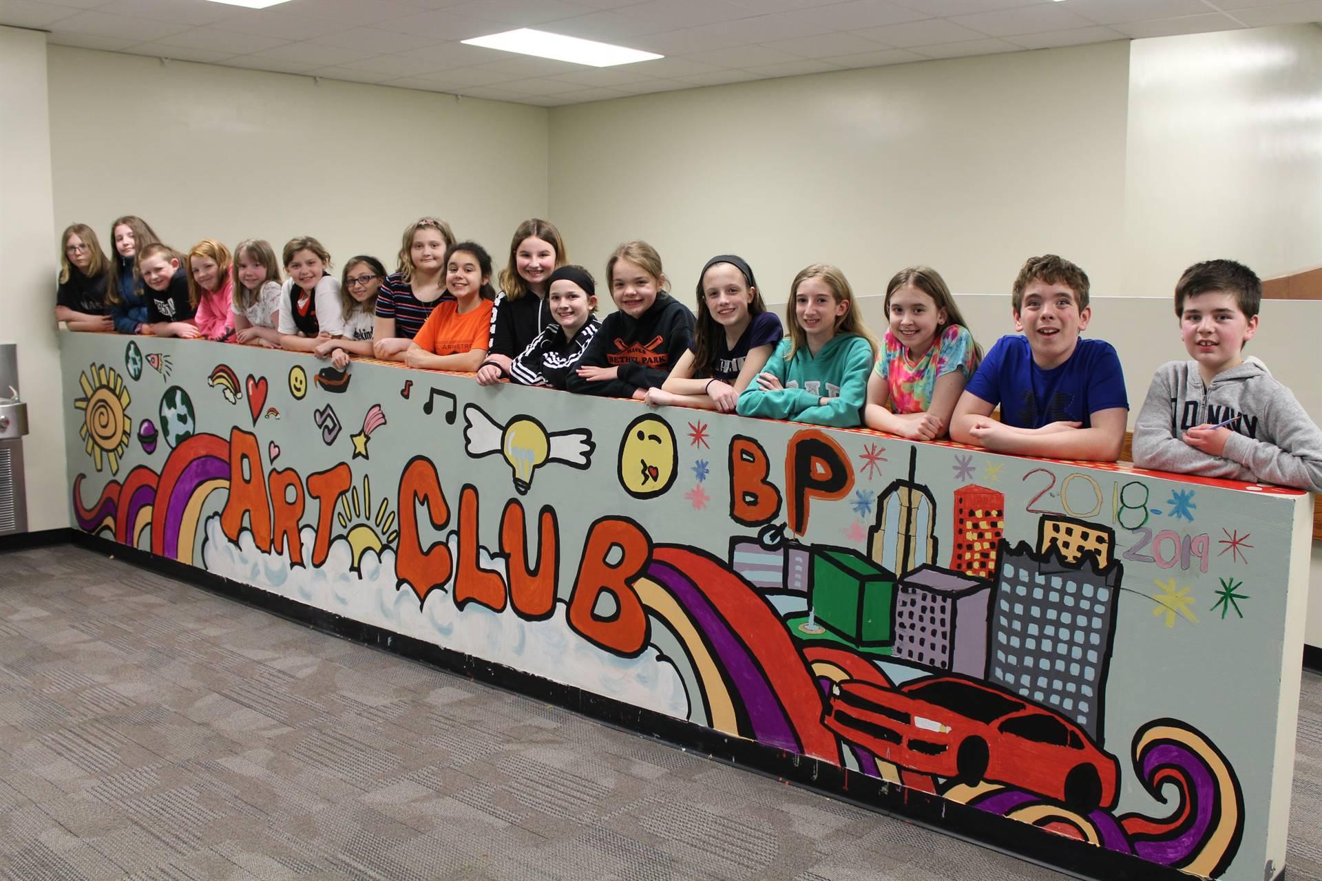 Fifth Grade Art Club Mural