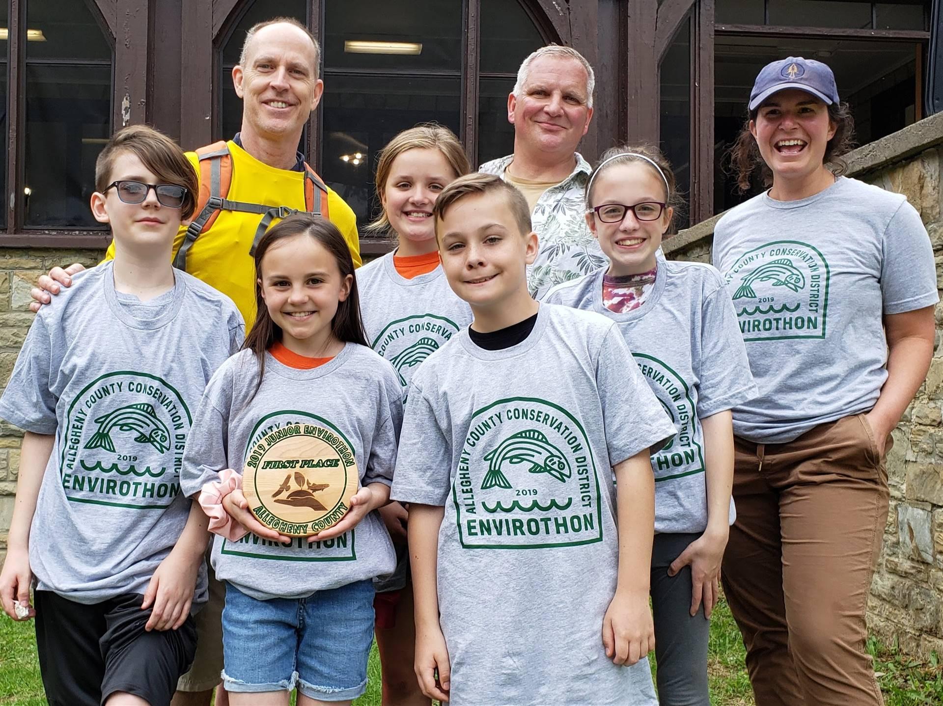 The winning Envirothon Team
