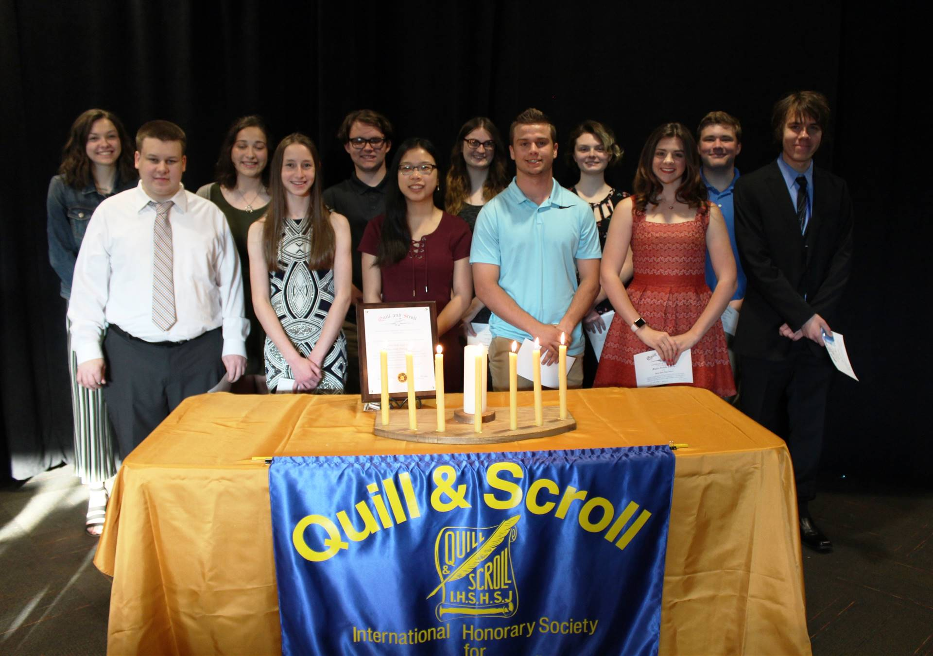 This year's Quill and Scroll Honorees