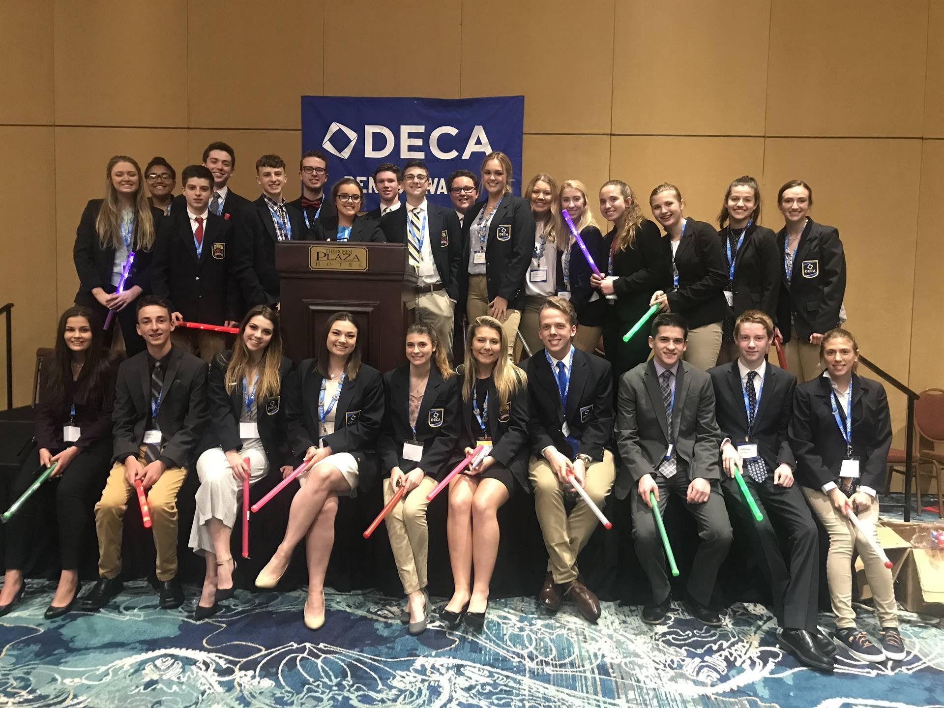 The DECA International Competitors