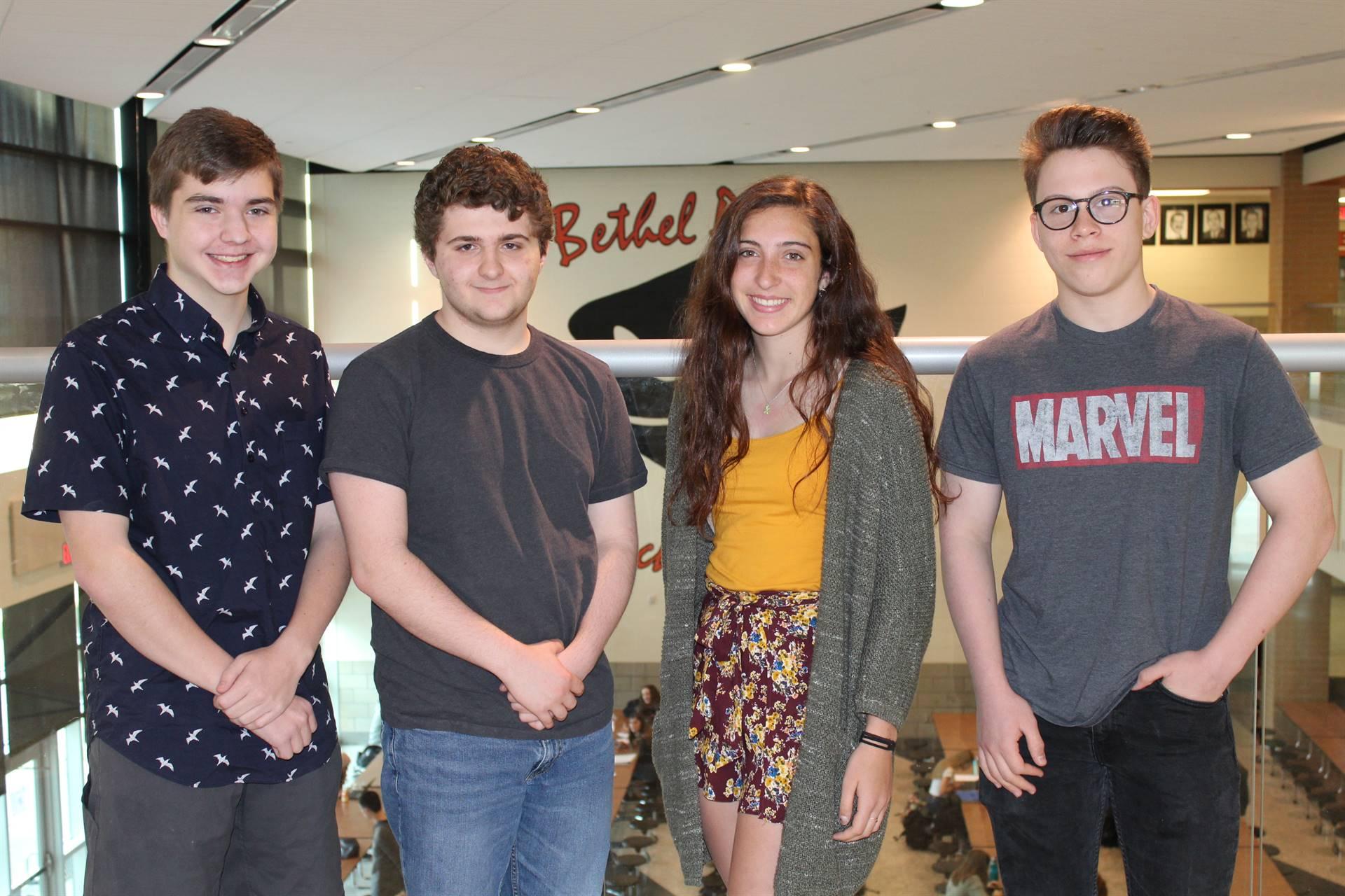 The four Latin Exam Awardees