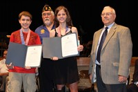 The two American Legion Award winners and two members of the Legion