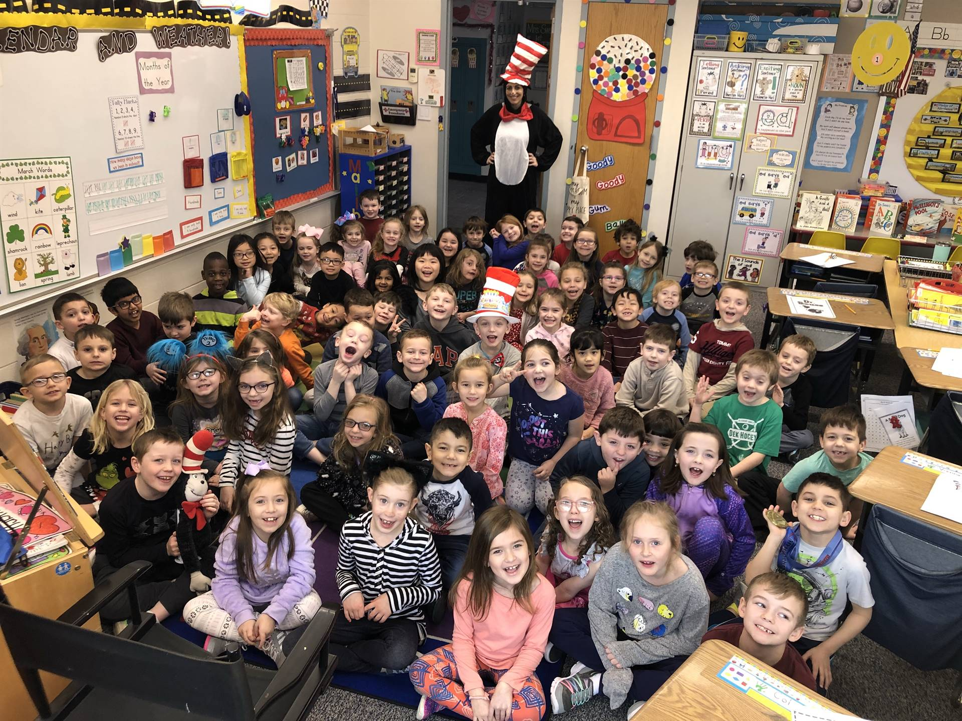 Students on Read Across America Day