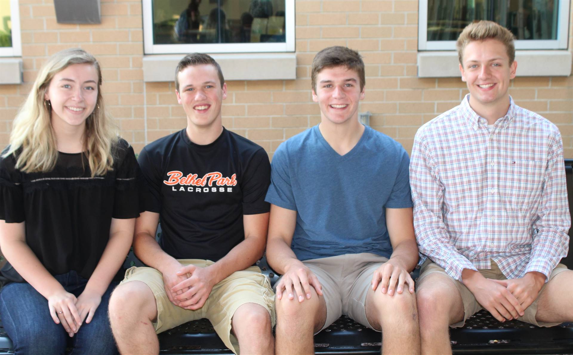 The four students who participated in the Keystone State Boys and Girls Programs