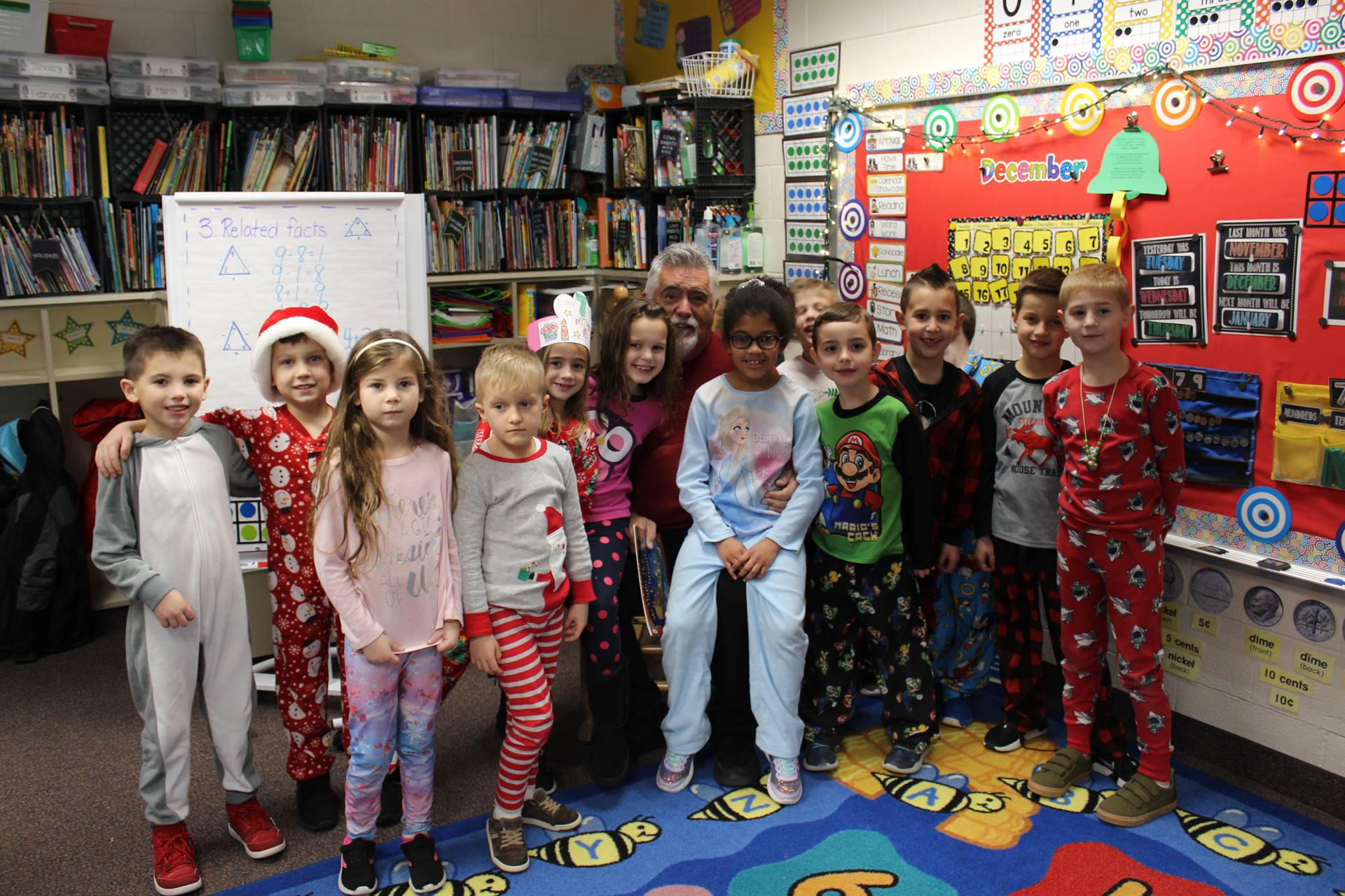 Mrs. Joseph's class in their PJs