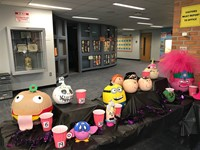 Pumpkins in the lobby