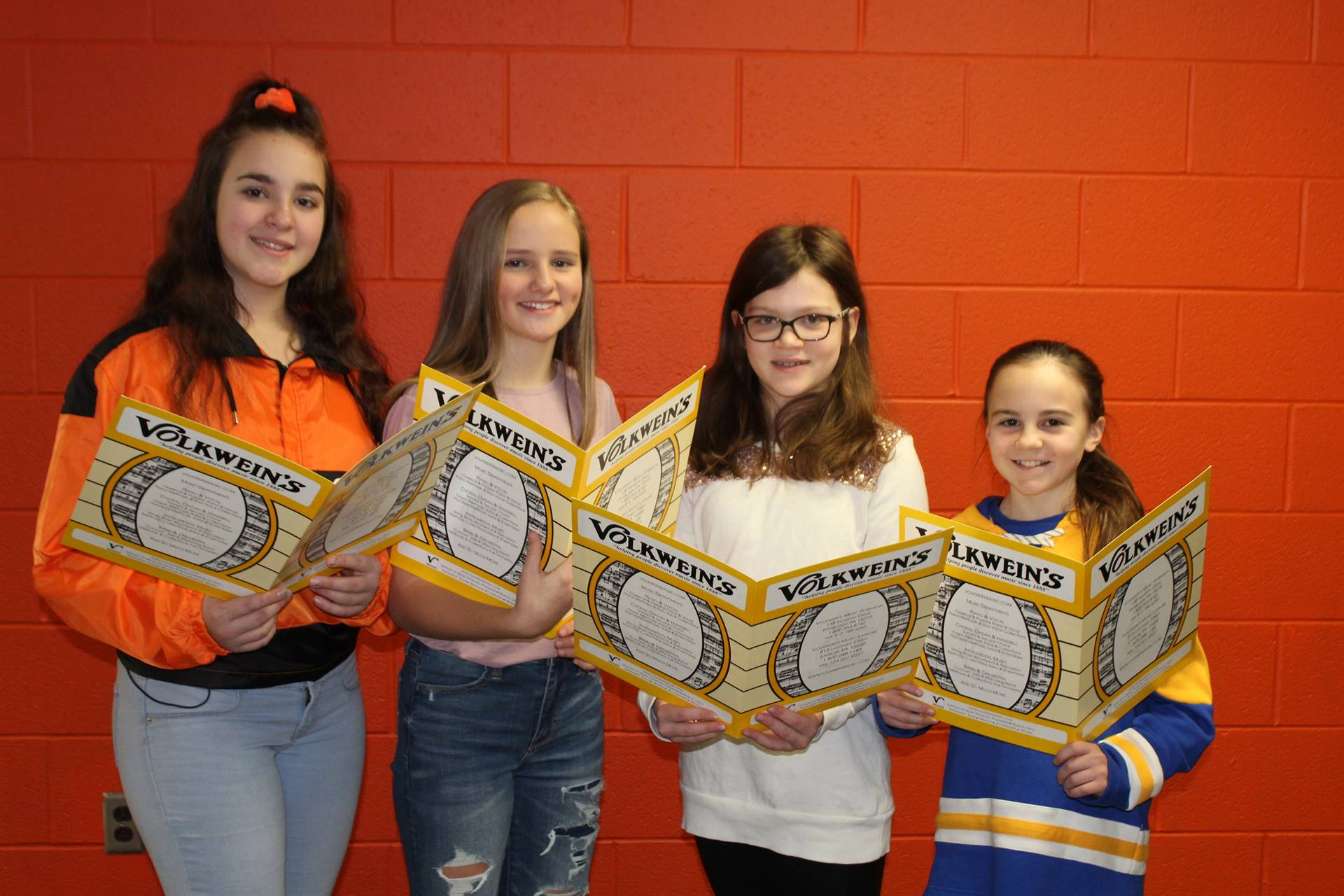 Four of the five NAMS Elementary Sing Fest vocalists