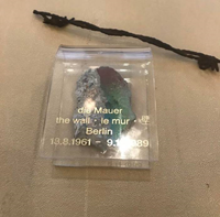 A piece of the Berlin Wall and barbed wire