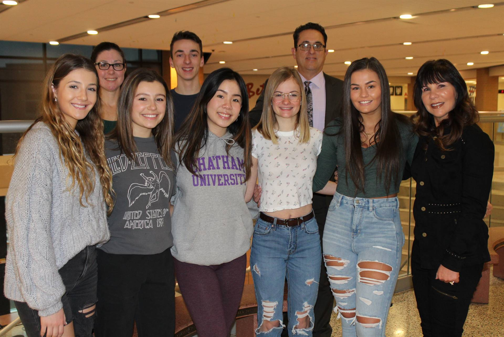 The BPHS PACS and DECA students and staff who worked on the Blood Drives