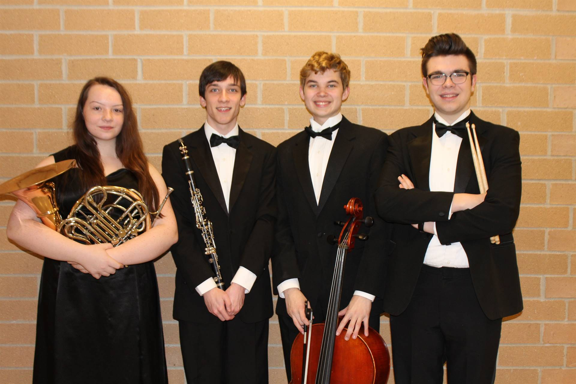 The four Region Orchestra musicians