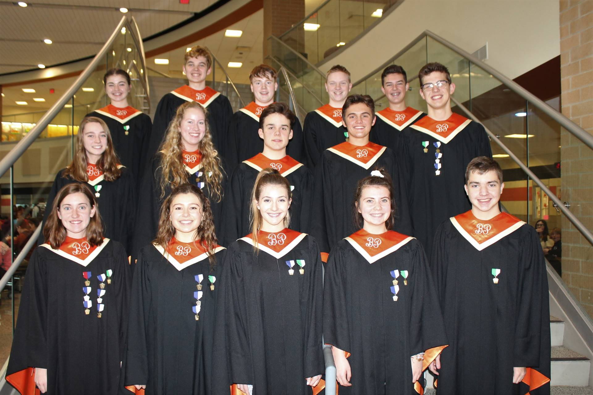 The 15 BPHS Region Chorus students