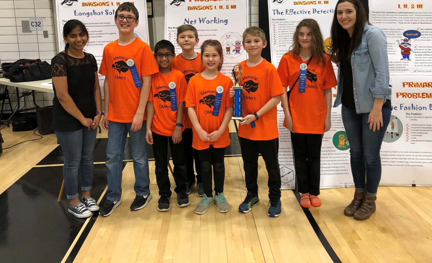 Odyssey of the Mind students and coaches