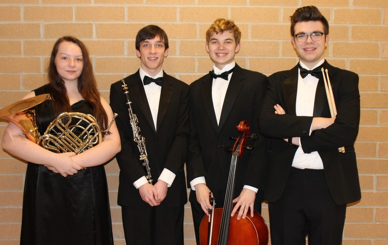 The four BPHS All-State Orchestra Musicians