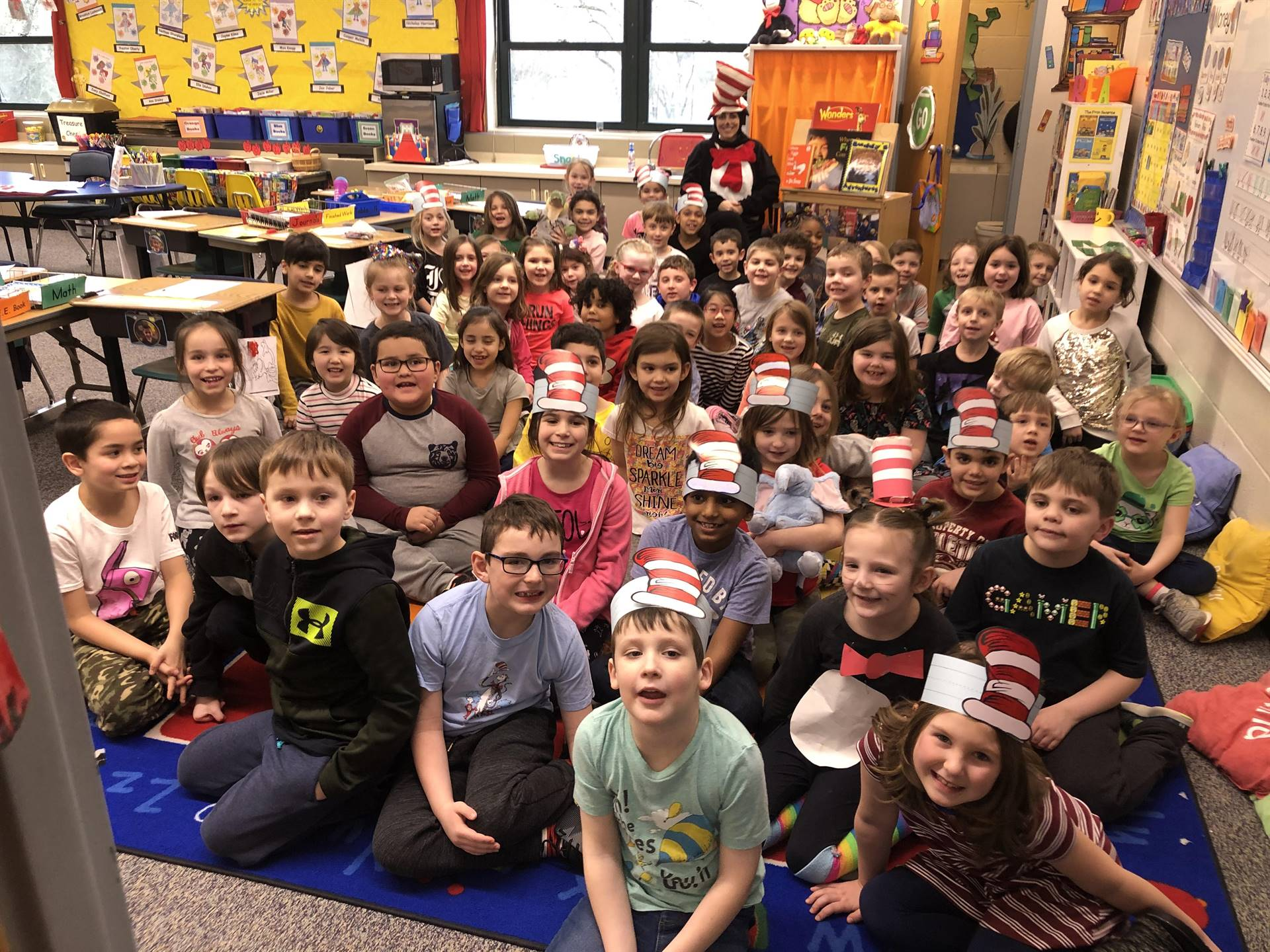 First Graders with Mrs. Collins