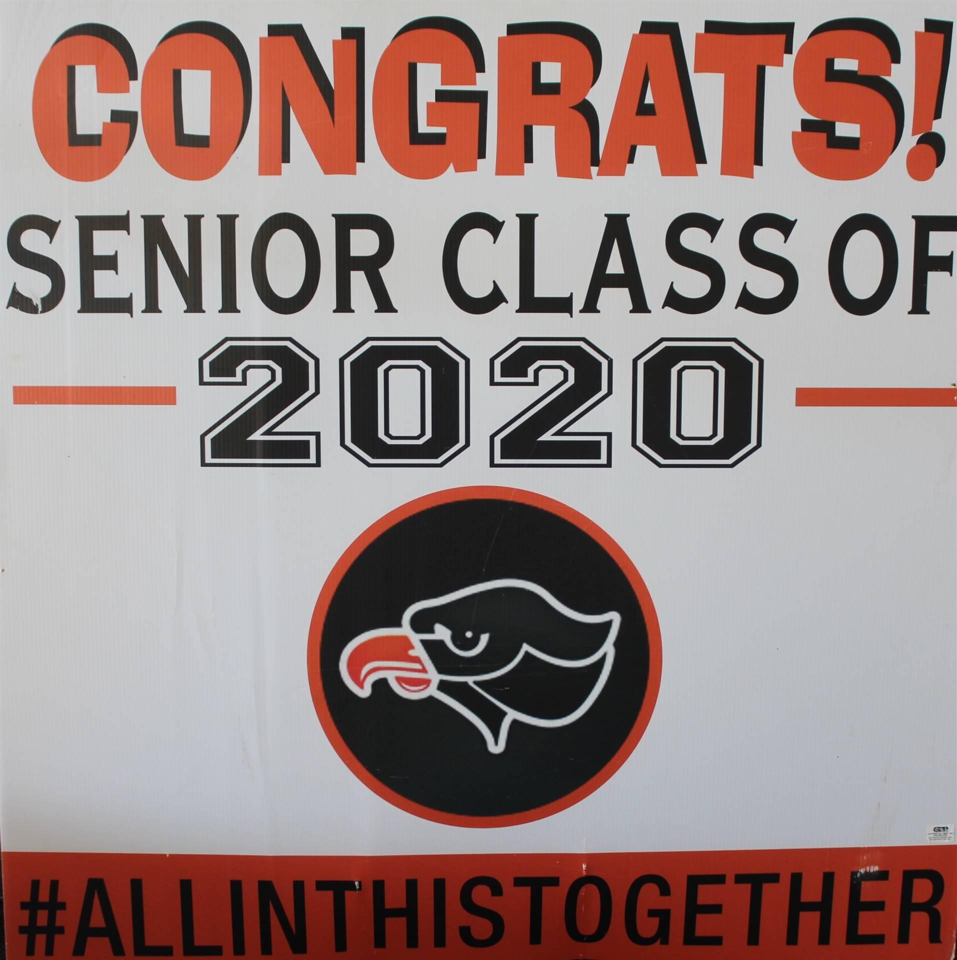 senior congrats sign