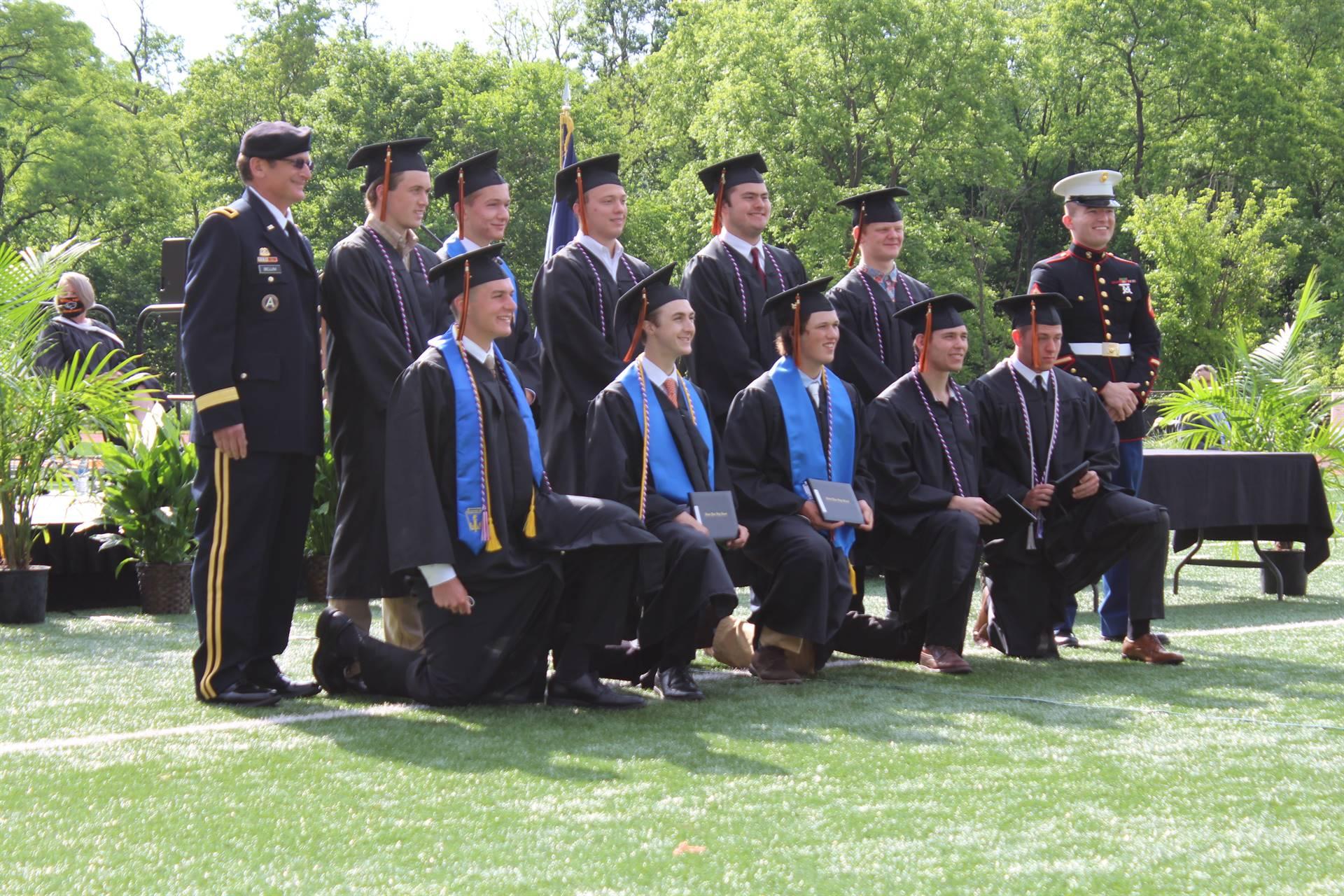 the 10 military graduates