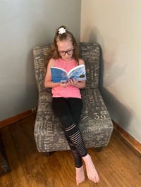 student reading the novel
