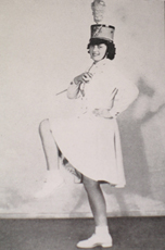 A majorette from 1940