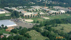 An aerial view of the old Bethel Park High School campus