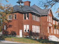 A recent picture of the old Bethel Park High School (now the Schoolhouse Arts Center)