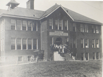 The first Bethel Park High School (now the Schoolhouse Arts Center)